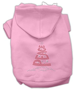 Peace Tree Rhinestone Hoodies Light Pink XXXL(20)